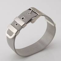 Watchband Style Chain Bracelet High Quality Never Fade 316L Stainless Steel Bracelets & Bangles For Women/ Men Jewelry H361