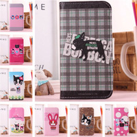 For Samsung I9500 Galaxy S4 New Cartoon Dog Series PU Leather Stand Case With Card Slot
