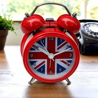2013 Alarm clock Clock flag clock high quality beauty design 12*8.8*5.5cm free shipping