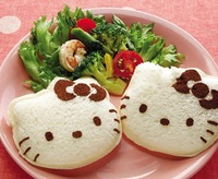 Eco-friendly Cartoon Hello-Kitty Sandwich/Sushi Mold Bread Cake Mold Maker DIY Mold Cutter Craft 10Pcs/lot Free Shipping