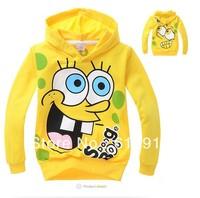 2013 Retail Children's sweater boy's long sleeve hoodies autumn Kids Spongebob hooded sweatshirts fashion outwear Free shipping