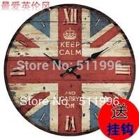 London union jack clock London souvenirs  keep calm and carry on clock free shippig