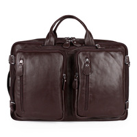 Popularize !  high quality 100%  cowhide genuine leather bag  men travel bags men messenger bags  men's bags