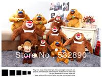 Free shipping hot sale 35cm pp Cotton Boonie Bears Logger Vick Plush stuffed toys Wedding birthday gift