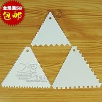 Baking tools triangle plastic scraper dough cake cream scraper wiper blade