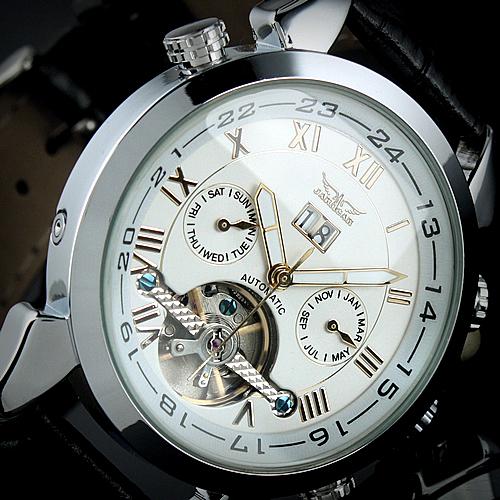 Jargar flyheel table mechanical watch mens watch fashion jjt001(China (Mainland))
