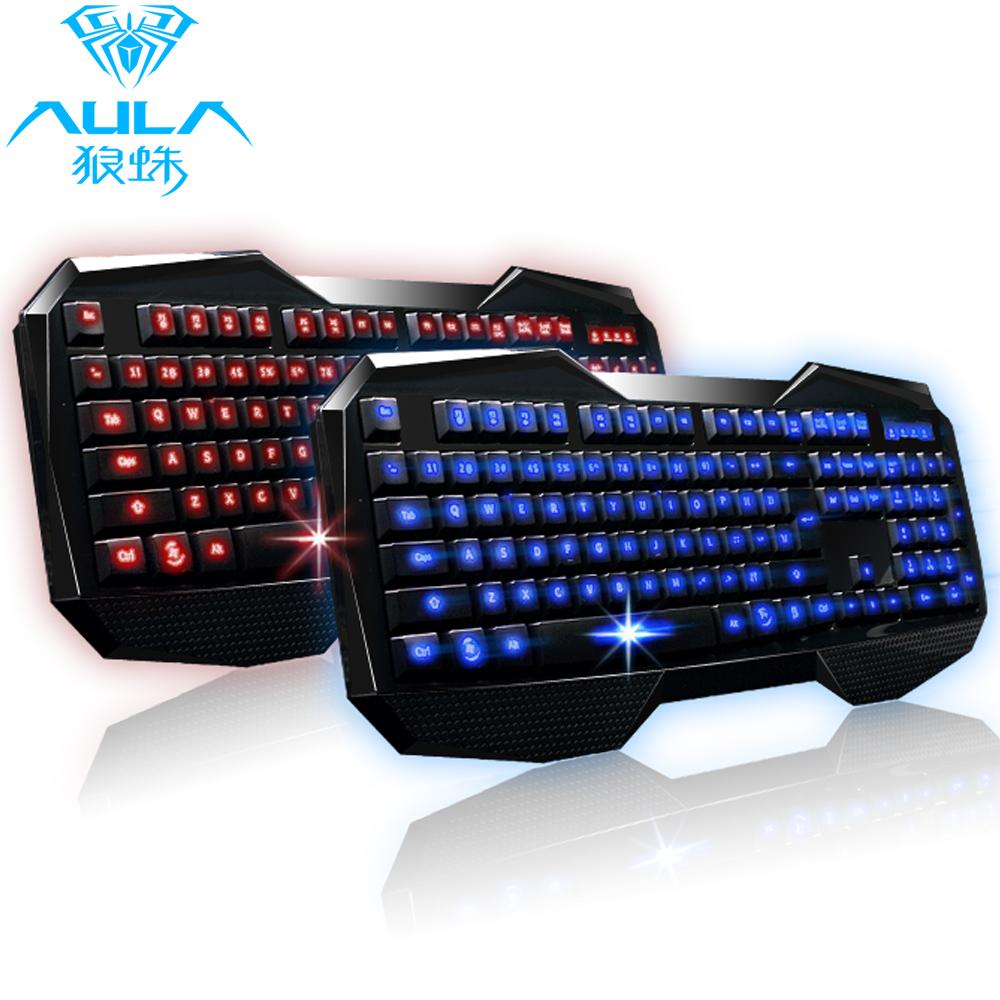 Luminous backlit keyboard tarantula wired usb keyboard gaming keyboard mouse pad lol(China (Mainland))