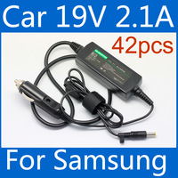 42pcs/carton 19V 2.1A Laptop Car Charger 40W Power Adapter For Samsung N145/N102S/N143/NC10/N128/NF110/NF210/NF310/N150/NC111