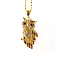 Owl Crystal USB Flash Pen Drive disk Memory Sticks 4GB 8GB 16GB 32GB 64GB Free Shipping