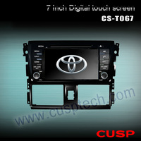 "CS-T067 7"" Toyota Rush Car DVD for TOYOTA VIOS / YARIS Sedan 2013- with GPS Analog TV Radio RDS Bluetooth USB iPod"