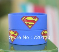 SUPERMAN wristband,Superman bracelet,skyblue,50pcs/lot,free shipping