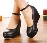Small single shoes size 30 - 33 Large women's shoes size 40 -42 nude color platform wedges shoes.