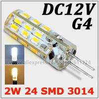 5x  G4 2W SMD 3014 LED Bulb 2 Watt Warm White Car Boat Spot Light Lamp DC 12V  For Crystal Light Decoration