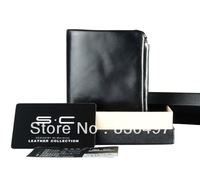 New 2013 short design wallet multifunctional zipper wallet ol cowhide wallet genuine leather purse