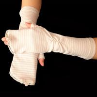 Summer short design women's semi-finger slip-resistant sunscreen anti-uv gloves