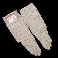 Women's summer uv sunscreen anti-uv slip-resistant gloves long design bow dot gloves
