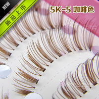 NEW! Handmade Natural Long Brown False Eyelashes Eyelash Eye Lashes 5k-5