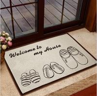 Fashion carpet, ZAKKA room carpet, cotton non-slip mats, kitchen mats doormat bedroom slippers paragraph 40 * 60cm