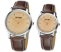 Authentic EYKI brand 8621 fashion lovers couple ladies & men leather watch
