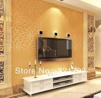 House decoration non-woven background wallpaper lotus embossed design bedroom wallpaper warm pastoral