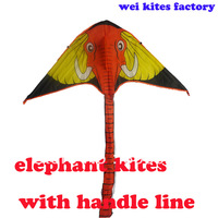 free shipping high quality elephant kite10pcs/lot children kite flying with handle line toys new 2014 hongyang birds archery