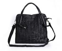 Korean Style 2013 Leather Ancient Inclined Big Bag Women Cowhide Shoulder Bag Handbag free shipping