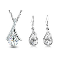 shipping silver jewelry sets women,TZ-229812