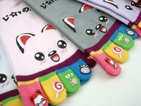 fashion cartoon cotton female socks smiley hyraxes heel ketty bear woman sock 5pair/lot mix order random free shipping