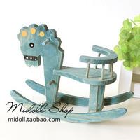 Zakka vintage retro rollaround finishing wool blue trojan chair decoration photography props