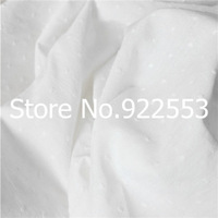 Free shipping 145cm Width Little padded white cotton cloth baby bibs clothing fabric skirt