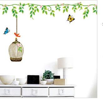 Cartoon Cute Retro Butterfly Flowers Birdcage Bedroom