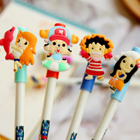 Wholesale Cool Piece Soft cartoon gel pens  black  0.5mm   10 models free shipping