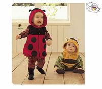 Toddler newborn baby romper ladybug beetle one piece long sleeve cotton children kids clothing bodysuits