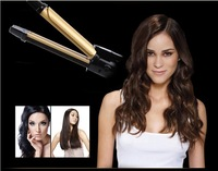 2013 Miracurl Hair Rollers curler and straighter dual use Ceramic Gold Rollers Provide EU/US/UK Standard Plug Professional