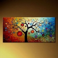 Beautiful Apple Pachira Screen HAND PAINTED Rose canvas Modern Decorative Portfolio Abstract art Classical gift oil paintings 2
