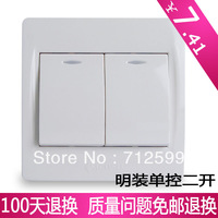 Ming mounted 86 twin single double open walls hem-stitch electrical switch socket m5