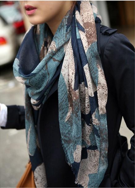 1PC 100*180cm New Fashion Winter Hot sale big Flower Peddles Printed Woman Cotton scarf /WJ-163(China (Mainland))