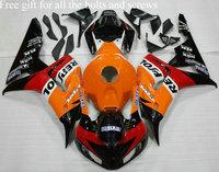 Complete fairing kit for Honda CBR1000RR 06 07 CBR 1000 RR 2006 2007 06 07 CBR1000 RR with tank cover Orange Red Black