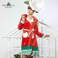 2013 coral fleece sleepwear women's robe autumn and winter coral fleece long-sleeve lounge robe