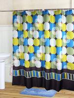 Endless Square fashion waterproof coating terylene cloth shower curtain 180*180cm