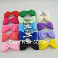 Trail order Baby Grosgrain Ribbon Bows clip,DIY handmade Headwear Hair bows clip for Baby Girls 80pcs/lot