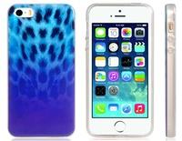 Blue Flame Leopard Print Skin Plastic Case for iPhone 5S/5      LIP-4357D