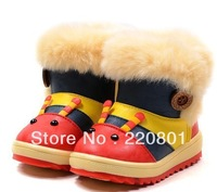 free shipping winter baby animal snow boots, girls and boys Antislip shoes,child warm shoes kids booties baby boots 5 clour