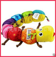 brinquedos bebes 2014 new caterpillar music plush toys education toy free shipping for Christmas
