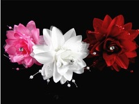 Wedding accessories hair accessory hair stick three-dimensional u handmade flower clip