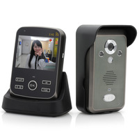 "Wireless Video Door Phone ""SafeGuard"" - PIR Motion Detection, 3.5 Inch Monitor, 300m Range, Photo and Video Function"