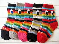 Spring autumn and winter, children socks seamless girls smile cotton socks 10 pair /lot