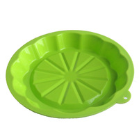 Silica gel pumpkin circle plate 8 pizza plate baking mould tools oven microwave oven