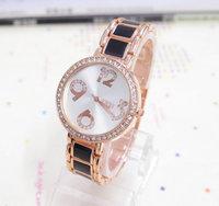 Wholesale Fashion Rose Gold Tone Watch Women Ladies Crystal Quartz Dress Watch Wristwatches TW029 AN