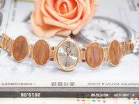 Wholesale Fashion Rose Gold Tone Watch Women Ladies Crystal Quartz Dress Watch Wristwatches TW032 AN